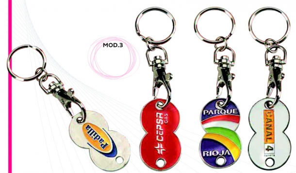 DOUBLE COIN KEYRINGS